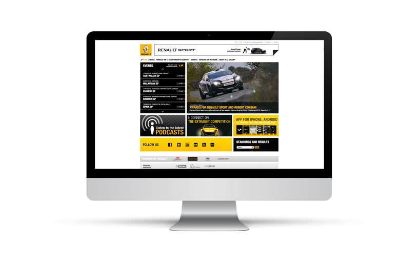 intégration, webdesign - Renault Sport F1 - 2011