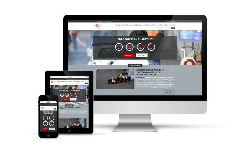 webdesign, responsive, intégration - Bahrain International Circuit - 2016