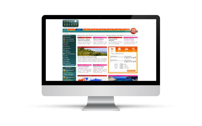 webdesign, intégration - EasyVoyage.com - 2007