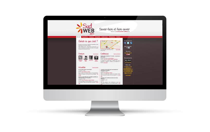 intégration, webdesign, développement - Sud Web 2011 - 2011