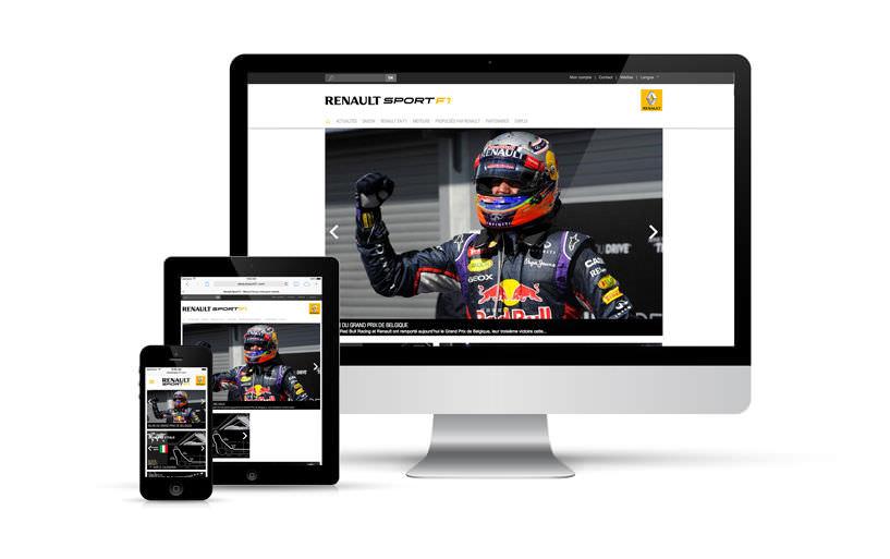 webdesign, responsive, intégration - Renault Sport F1, Renault Sport, World Series by Renault - 2014