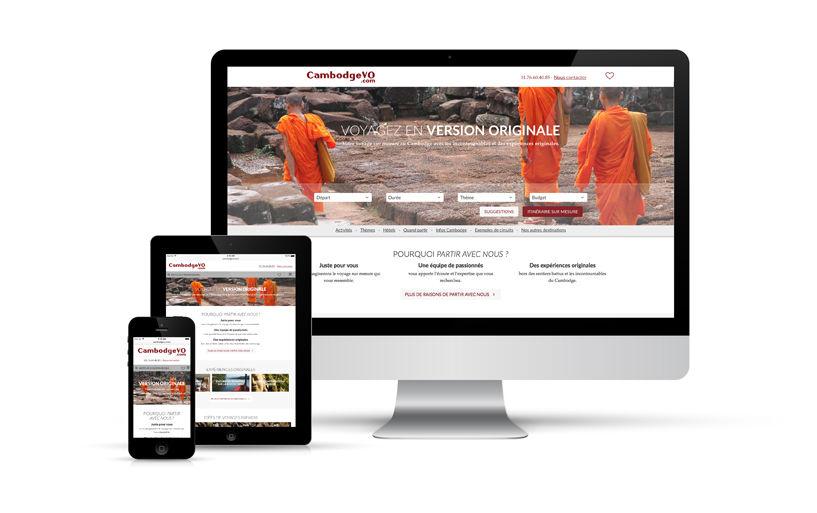 webdesign, responsive, intégration - CambodgeVO, AsieVO, VoyageVO... - 2015