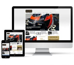 intégration, responsive, webdesign - Lotus F1 Team, v2 - 2013