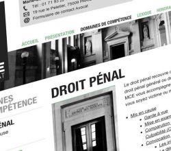 développement, intégration, responsive, webdesign, wireframes, wordpress - MCE Avocat - 2012
