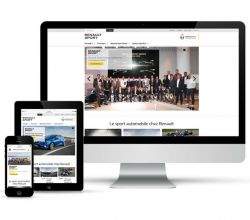 webdesign, responsive, intégration - Renault Sport - 2016