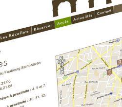 développement, intégration, responsive, webdesign, wireframes, wordpress - Centre Les Récollets - 2013