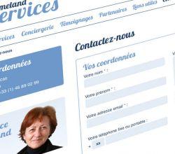 développement, intégration, responsive, webdesign, wireframes, wordpress - Homeland Services - 2012